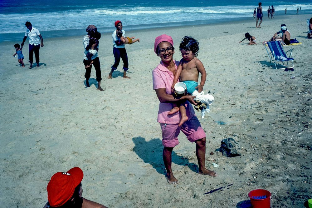 From a story on the beaches of Rio de Janeiro; For GEO - 35mm color slide, 1982, © Geoffrey Biddle