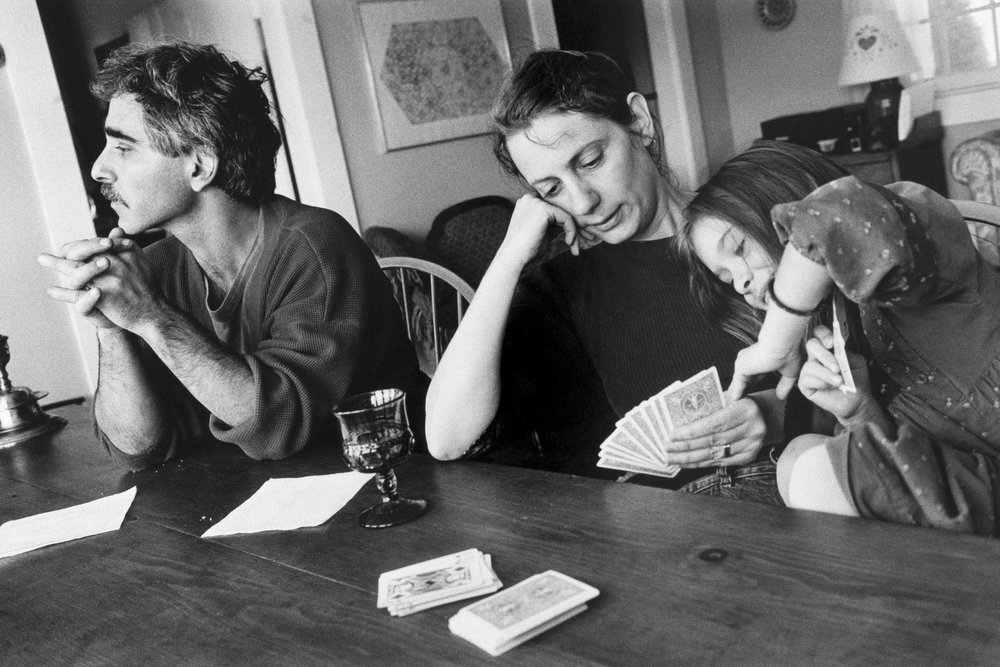 Wallkill, New York—Mark and Sydney with Eve - 35mm black and white negative, 1991, © Geoffrey Biddle