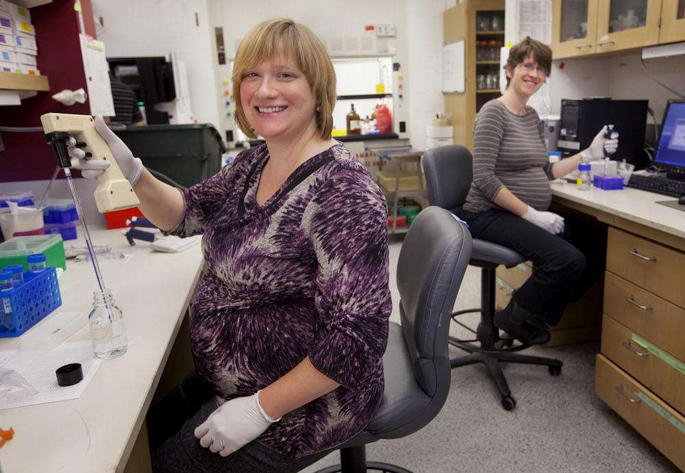 CAIT AND KATY, RESEARCH SCIENTISTS - Digital Photograph, 2012, © Ellen Banner