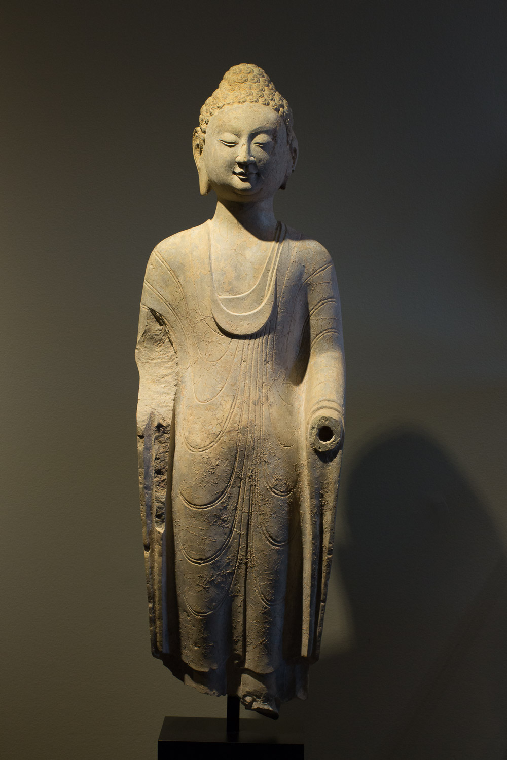 STATUE OF BUDDHA - China, Northern Qi Dynasty, 550 – 577 A.D.    Courtesy of Tom Swope Gallery