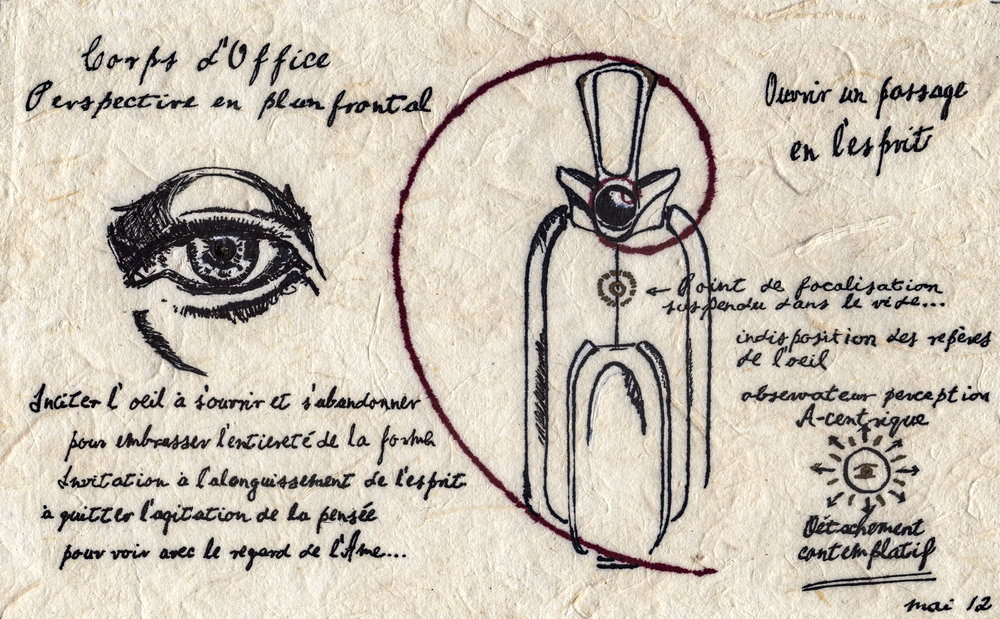Planche corps d'office, tirée du manuscrit de  La Voie du vin , Thierry Forbois, mai 2012