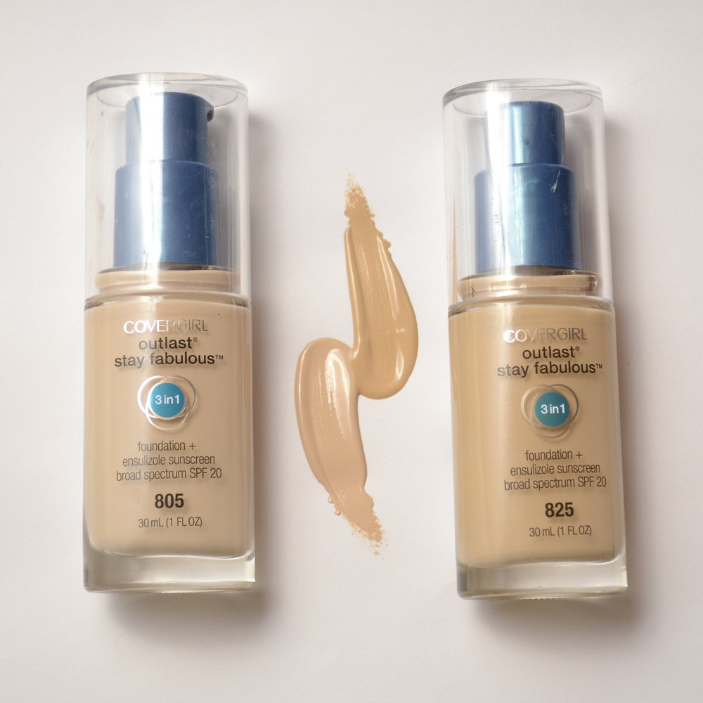 Covergirl Outlast Stay Fabulous 3-in-1 Foundation Shades 805 825