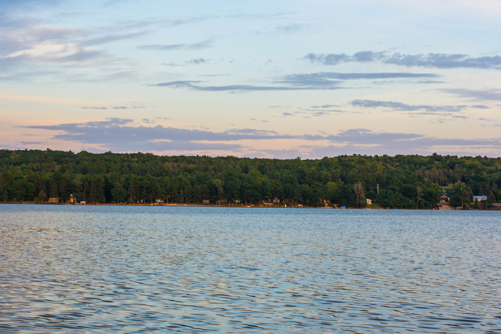 Sunset on Otsego Lake in Gaylord, Michigan || Hayley Fiser || thehayleyfiser.com