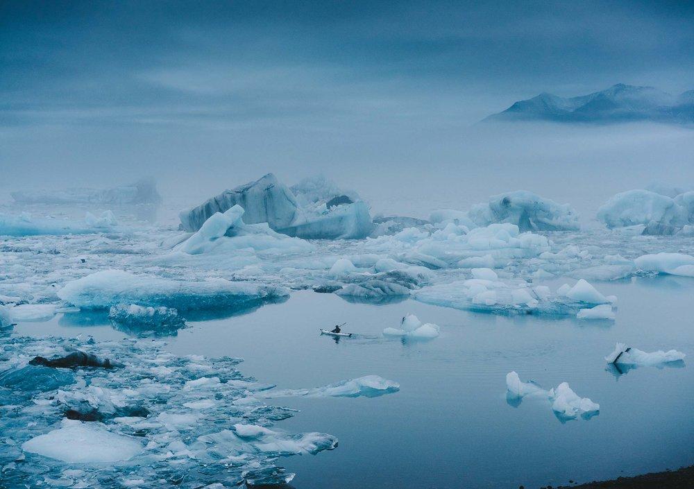 Rowing the North (Jökulsárlón Glacier Lagoon, Iceland)