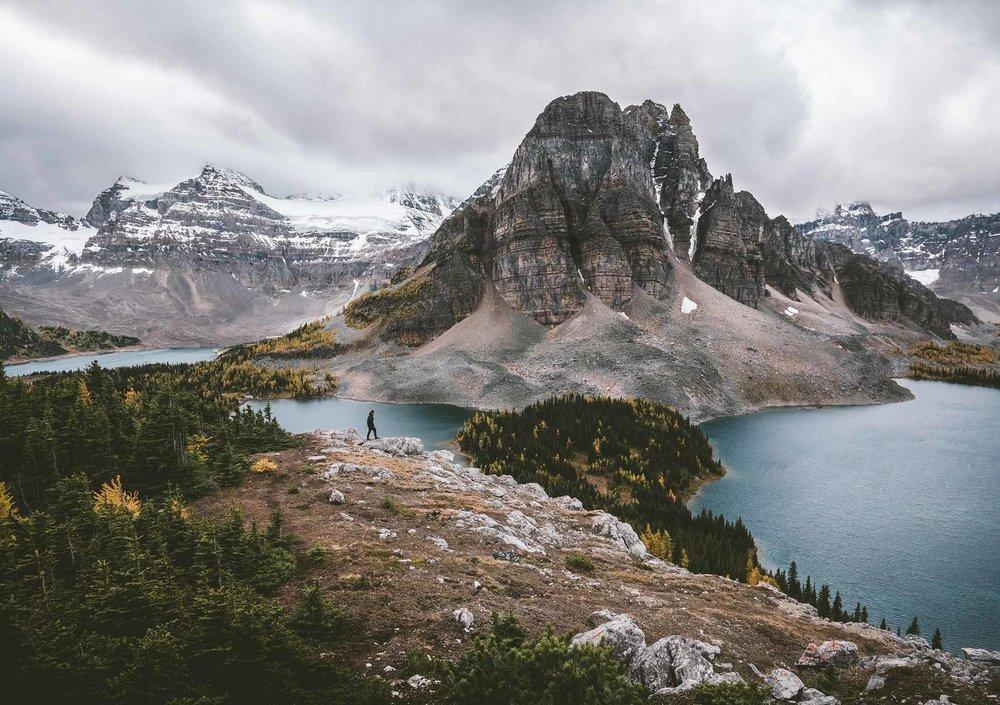 A hiding Mount Assiniboine (Mt. Assiniboine Provincial Park, Canada) - Roman Köenigshofer