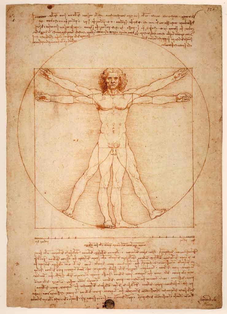Leonardo Da Vinci#'The Vitruvian Man'