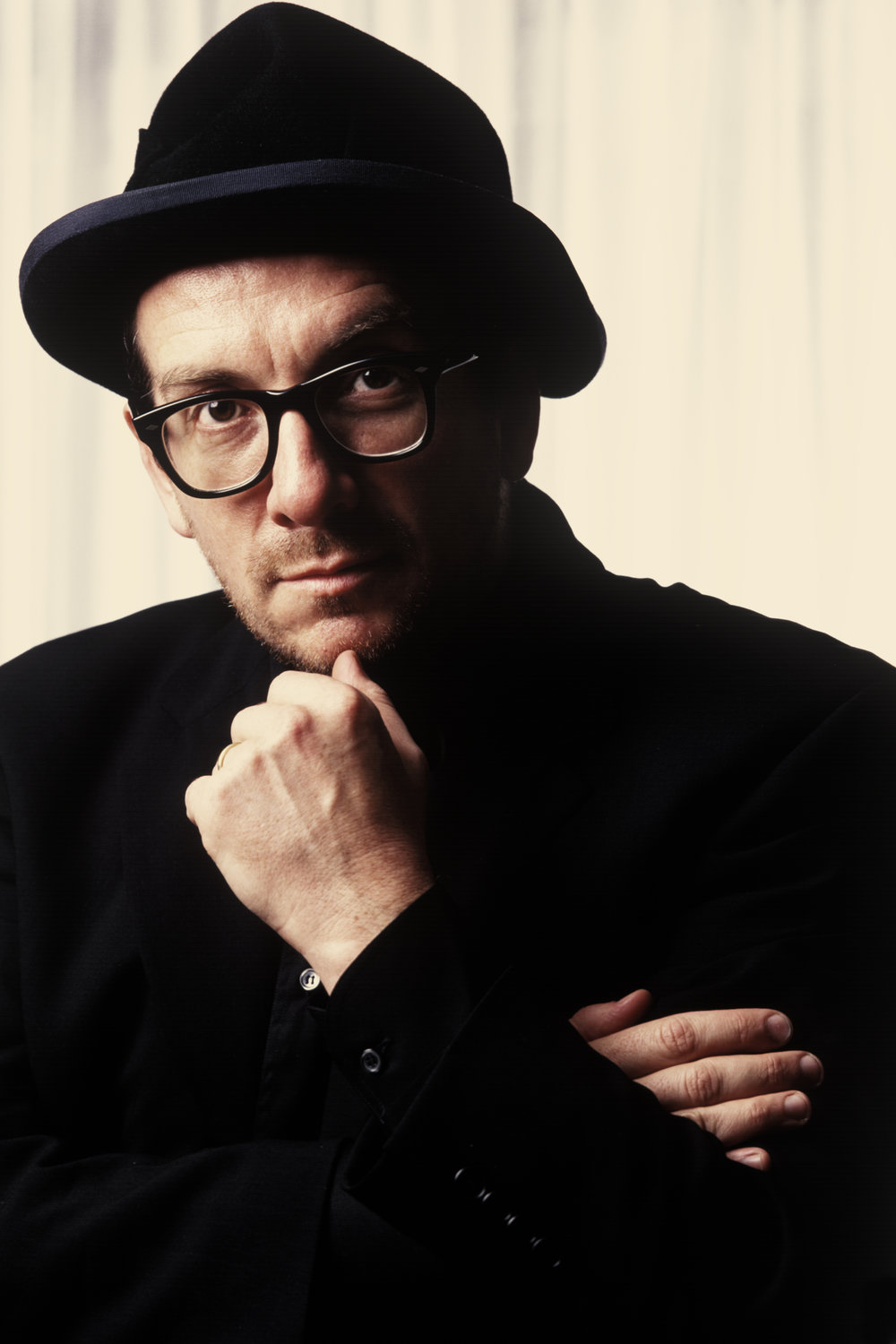 Portrait of  Elvis Costello  for editorial.
