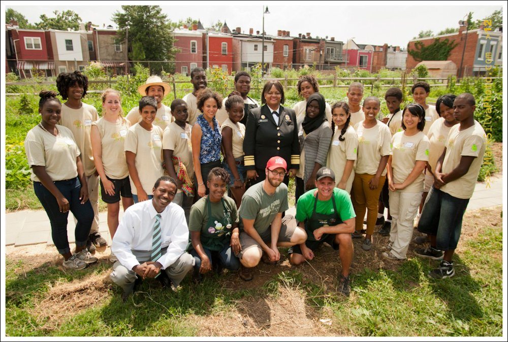 The US Surgeon General visits Common Good City Farm in 2012