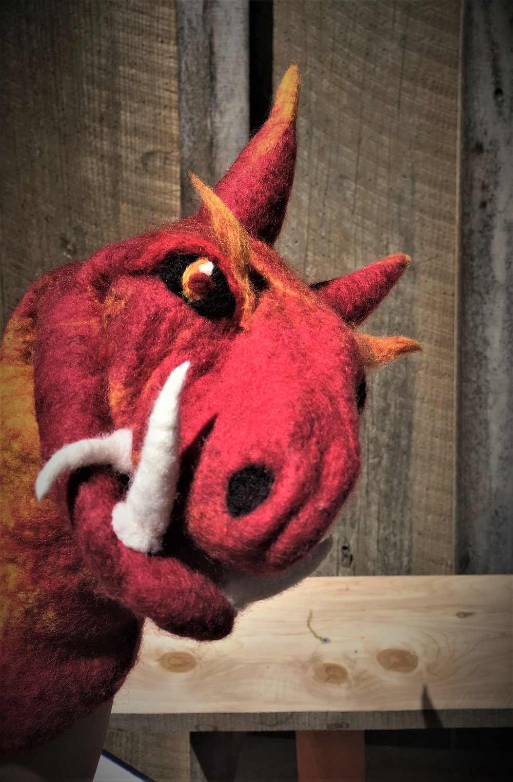 Phineas the Dragon puppet.JPG