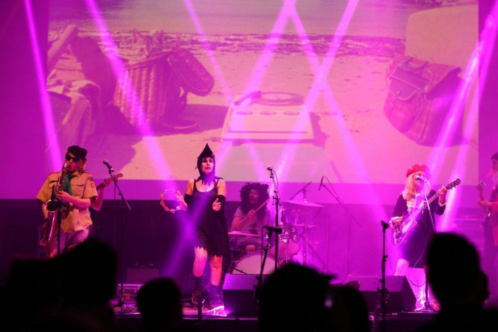 Wes Fest 2015 Produced by Fair Event Vendors Alliance (FEVA); Band: Juanita, Backdrop Projection: Muvtek, Lighting: C&H Audio Visual Services.