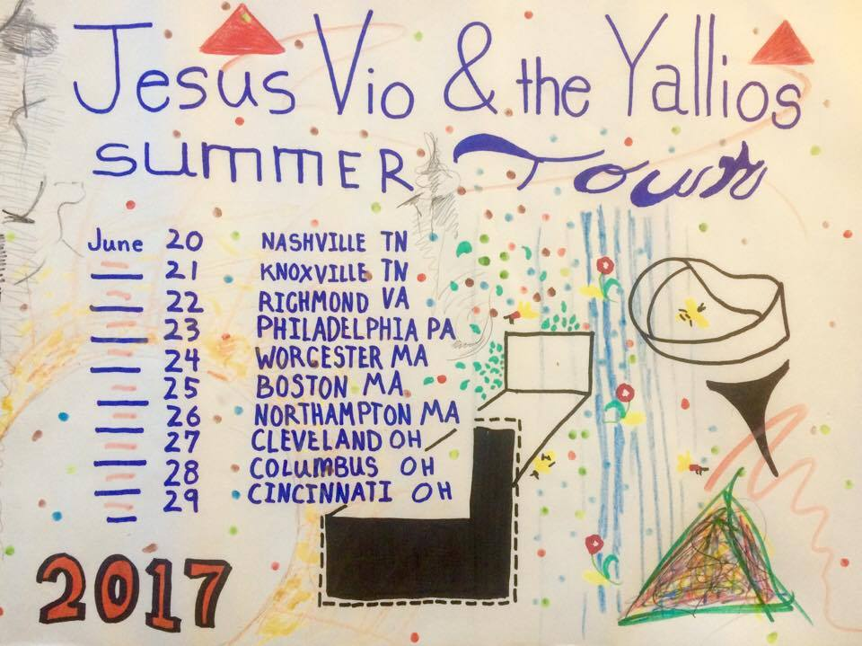Jesus Vio 2017 Summer Tour Poster