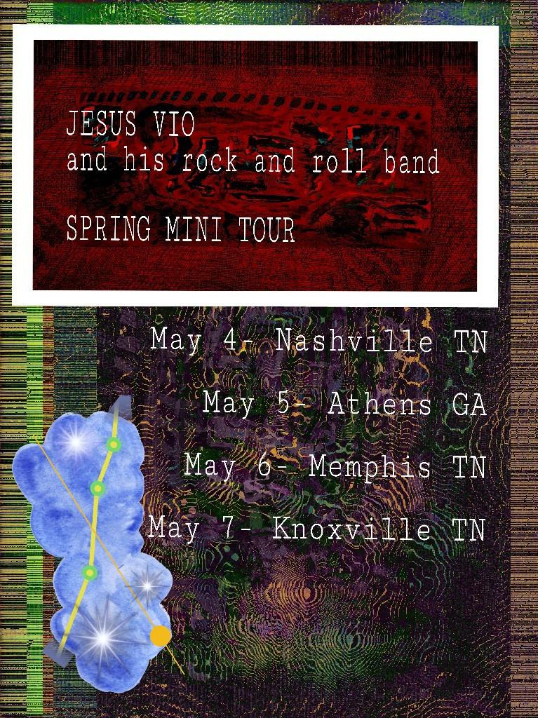 Jesus Vio Spring 2017 Tour Poster