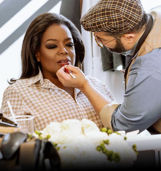 OPRAH WINFREY - Derrick Rutledge The Make-Up Maestro has make-up artist to OPRAH WINFREY.....
