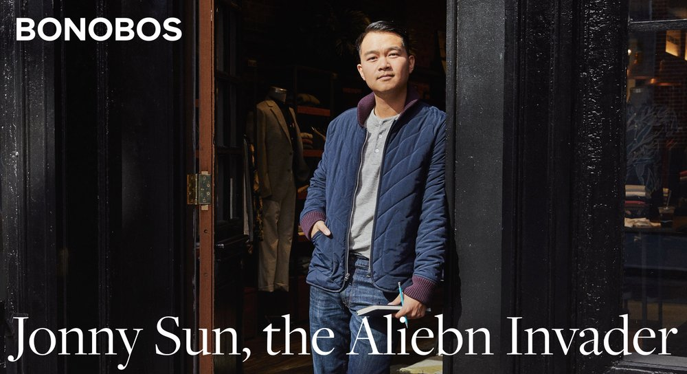 "Jonny Sun, the Aliebn Invader - Jonny Sun is a jack-of-a-few-very-specific-trades. You might know him as the author and illustrator of 2017's ""everyone's a aliebn when ur a aliebn too.""BonobosOctober 2018 catalog"