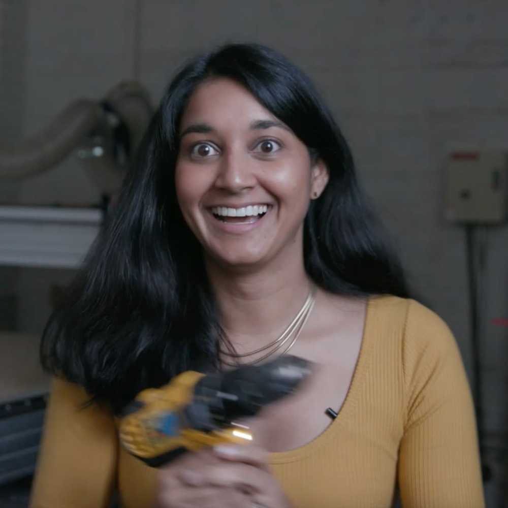Founder Krystal Persaud acting reeeaally silly in the Kickstarter video