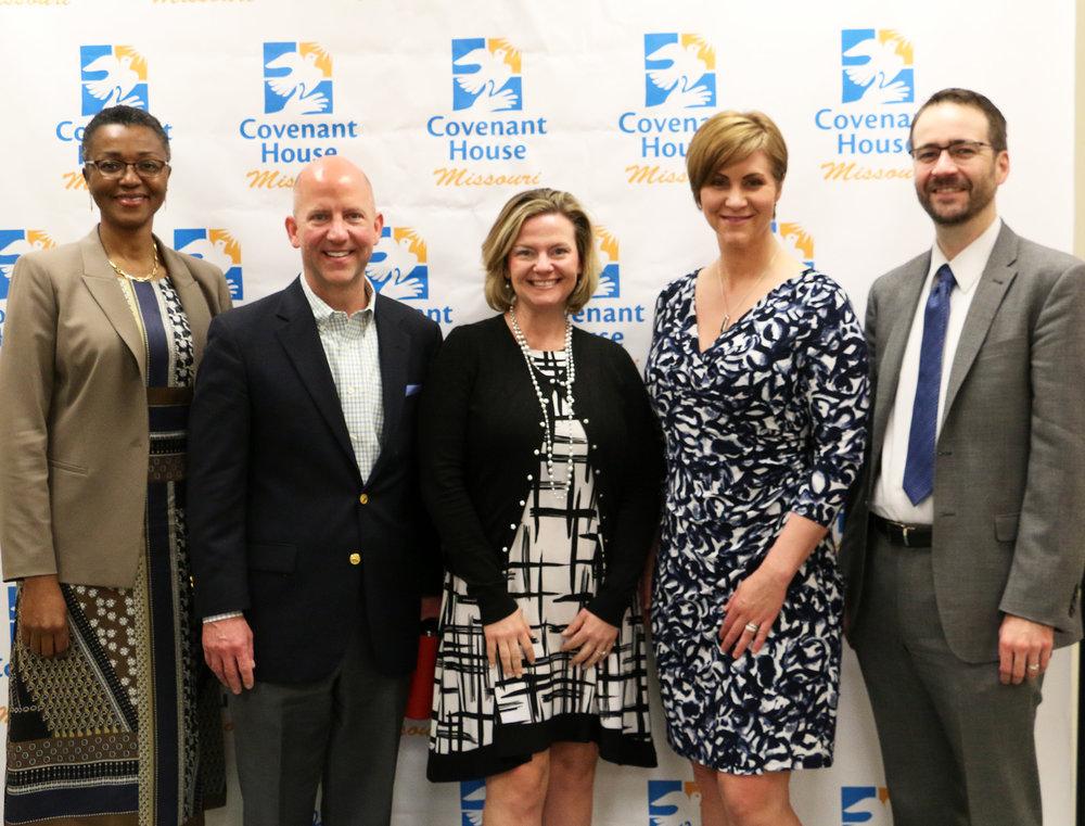 From left: Carmen Francis, Gerard Hempstead, CEO Jessica Erfling, Taryn Pulliam and Brad Bakker