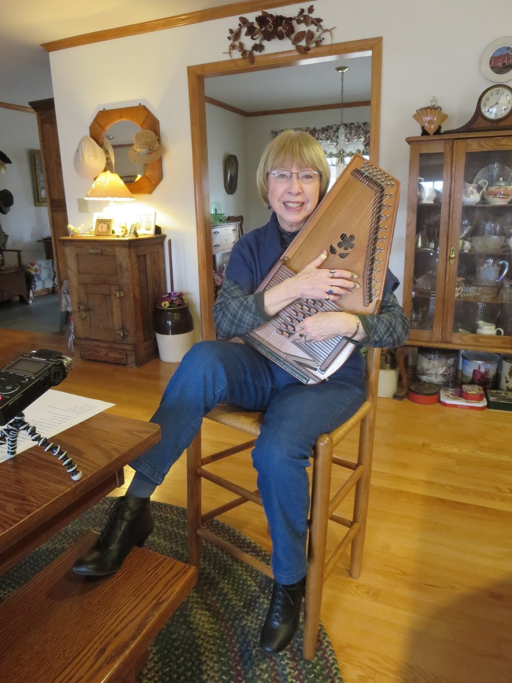 Carol Phillips at her home in Mineral Virginia 2017.