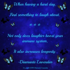 Find Something To Laugh About by Diamante Lavendar