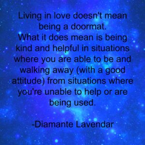 Living In Love by Diamante Lavendar