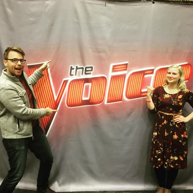 How are you spending your Sunday? #thevoiceauditions #singforyourlife #teamkelly  #bairdandbeluga #sfmusic