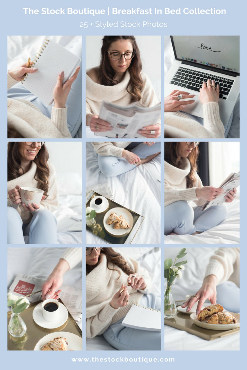 Feminine styled stock photography. We giveaway a stock photo every month when you subscribe! www.thestockboutique.com   #stockphoto     #femaleentrepreneur     #smallbusiness     #breakfastinbed