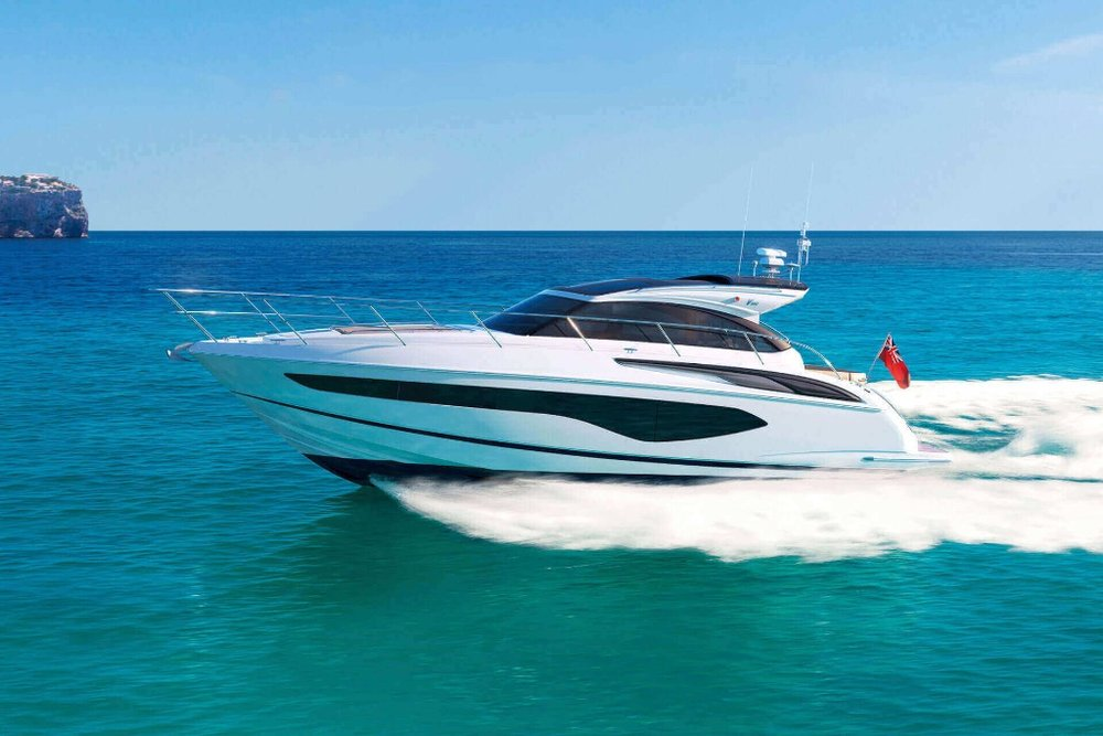 Princess V50 - The Princess V50 offers versatile cruising that's perfect for life al fresco. With an option for either open or enclosed main deck configuration. this elegant yacht offers style and power in abundance.