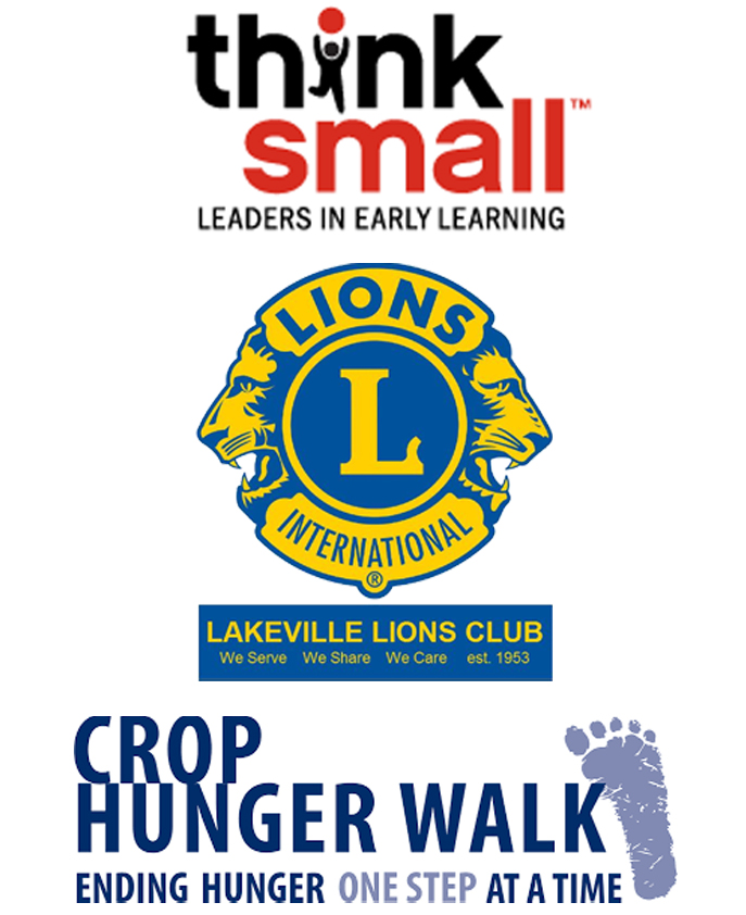 $160 to Think Small$180 to Lakeville Lions$150 to Crop Hunger Walk -