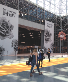 The Accessories Show at the Javitz Center in NYC.