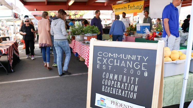 Community Exchange Table   Established in 2008 Community Exchange Table is a co-operative community booth that represents multiple smaller growers, agriculturists and artisans. It allows businesses to sell their surplus produce or goods to the community while relieving the stress of staffing, equipment and processes for selling. They represent farms such as Hadley Farmship, Holiday Farm and Arrandale Farms.   https://www.facebook.com/communityexchangetable/