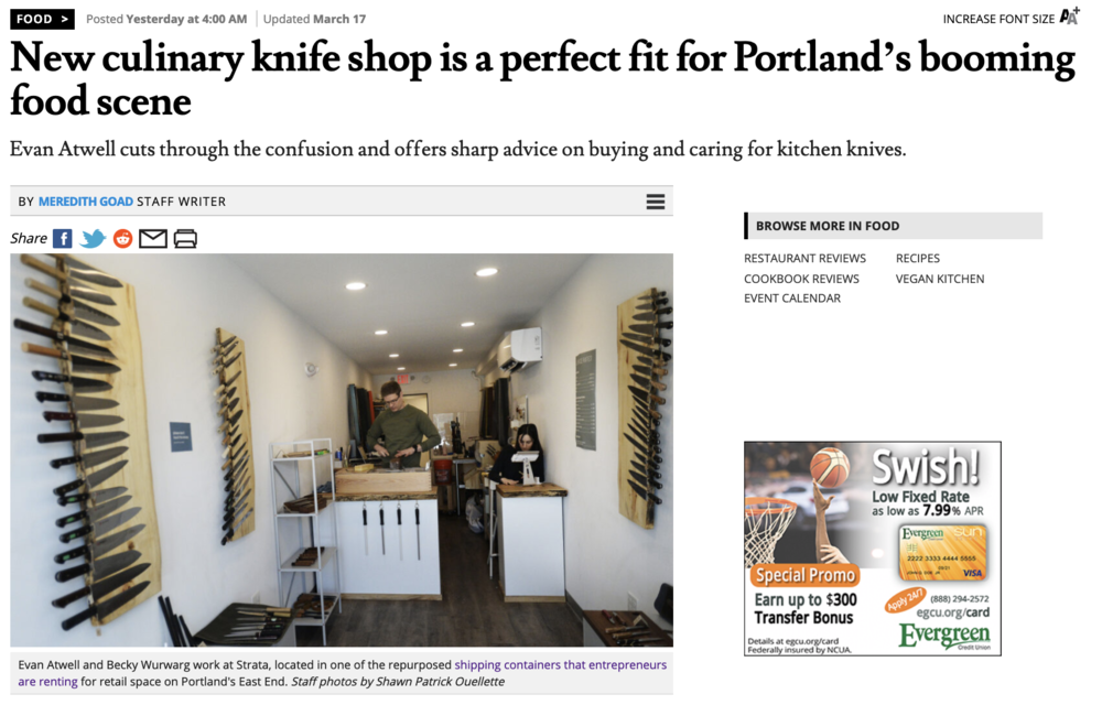 Original article available at https://www.pressherald.com/2019/03/17/new-culinary-knife-shop-is-a-perfect-fit-for-portlands-booming-food-scene/?src=TBB