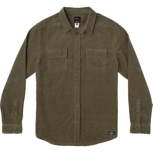 RVCA Campbell Corduroy Button-Up Shirt Surfside