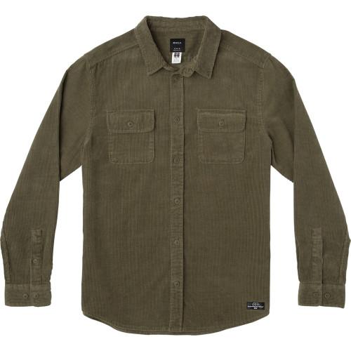 RVCA Campbell Corduroy Button-Up Shirt Surfside