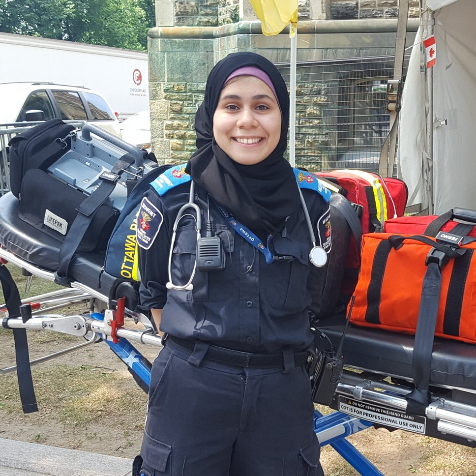 Maryam, Canada    @luckyyloopss  on Twitter. I'm a volunteer medical First Responder, I teach first aid, and I use figure skating as a coping method.