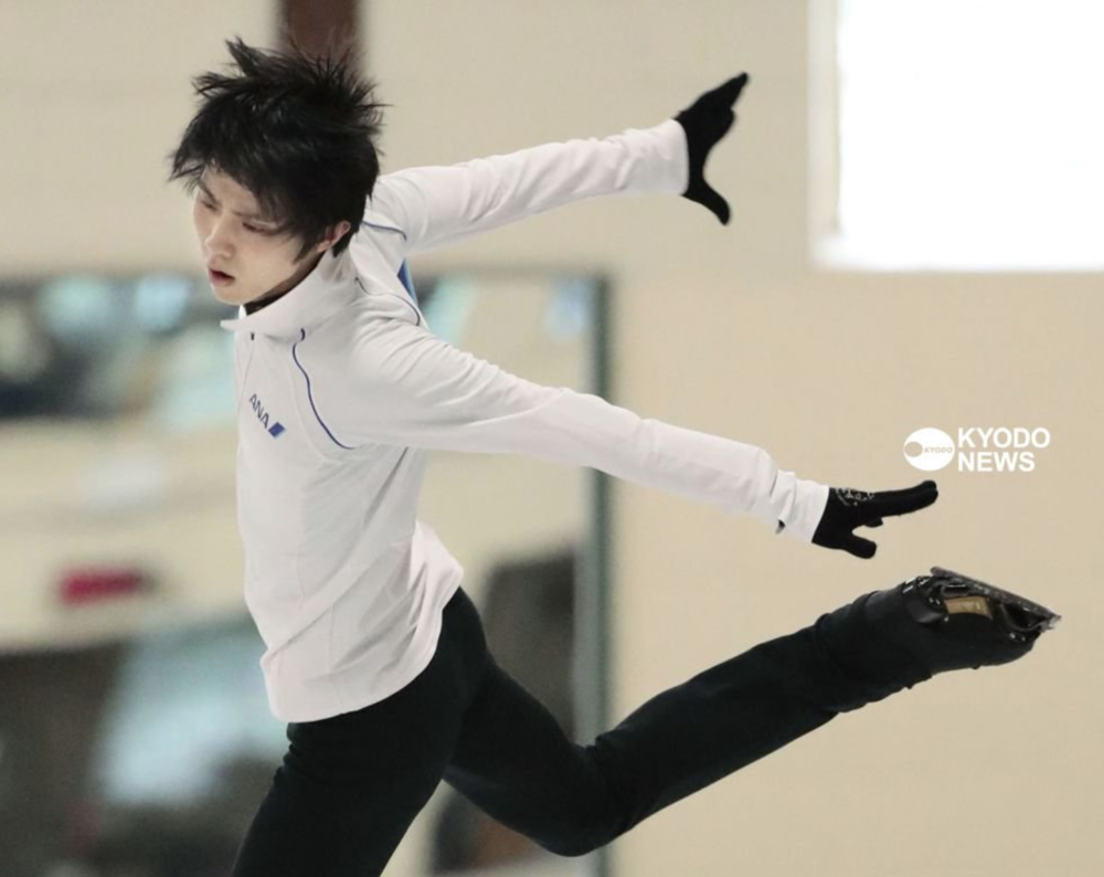 Yuzuru Hanyu practicing his new free program  (Photo credit)