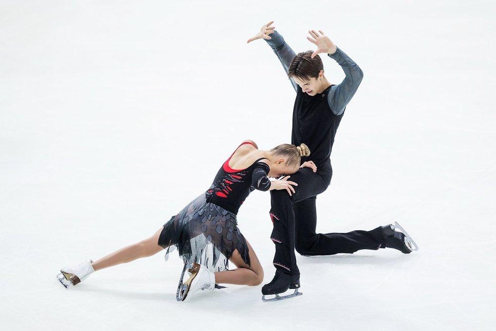 Arina Ushakova and Maxim Nekrasov (RUS) in the Rhythm Dance at JGP Amber Cup ( Photo Credit )