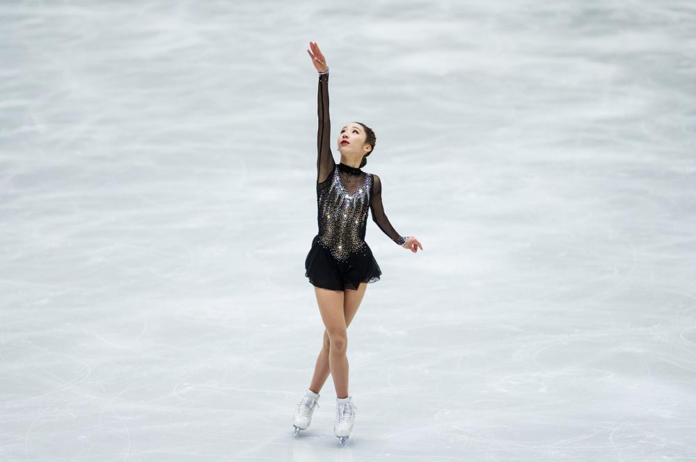 Yelim Kim performing her Short Program at JGP Ostrava (   Photo credit: ISU   )