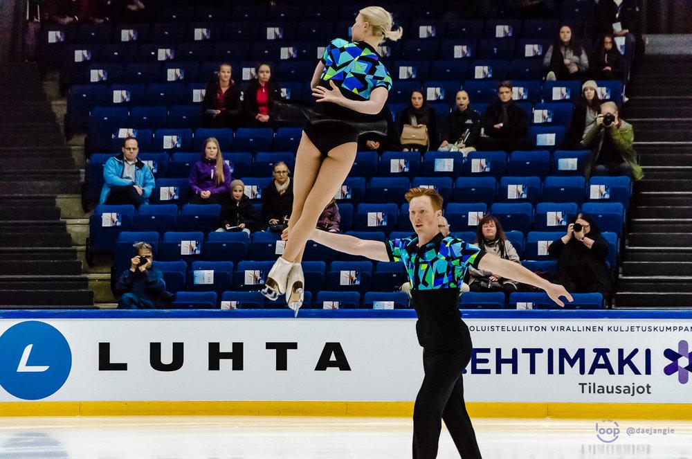 Evgenia Tarasova and Vladimir Morosov perform at Finlandia Trophy (   Photo credit: @daejangie   )