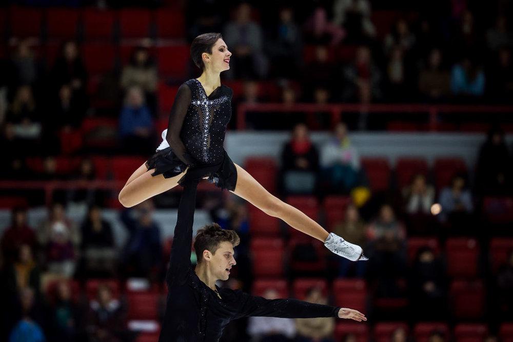 Natalia Zabiiako and Alexander Enbert (RUS) in action (   Photo credit: ISU   )