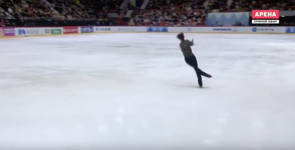 Yuzuru's 4Lo takeoff and landing