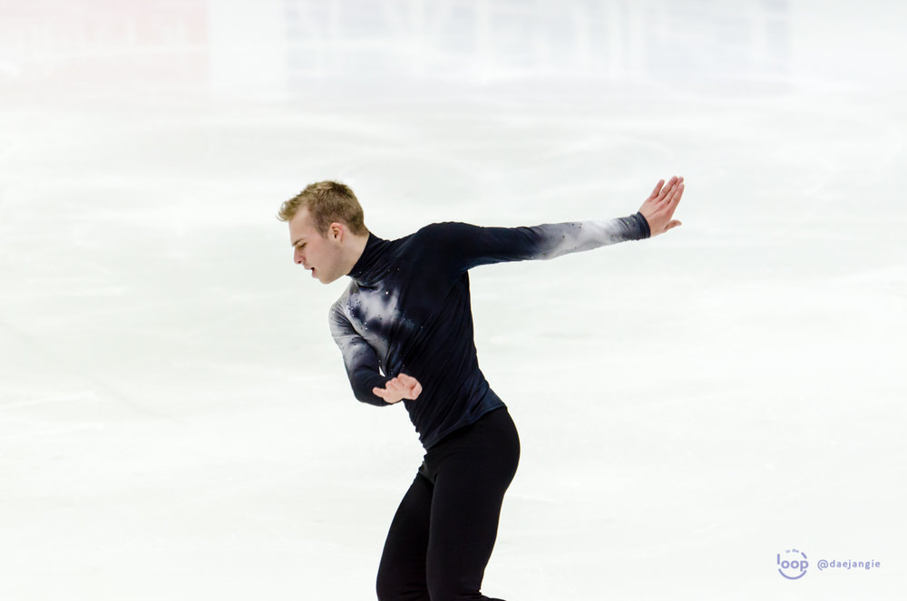 Alexei Krasnozhon performing his Short Program at GP Helsinki (Photo credit: Clara)