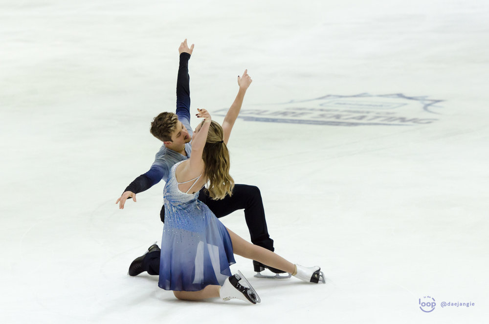 Christina Carreira and Anthony Ponomarenko performing their Free Dance at GP Helsinki (Photo credit: Clara)