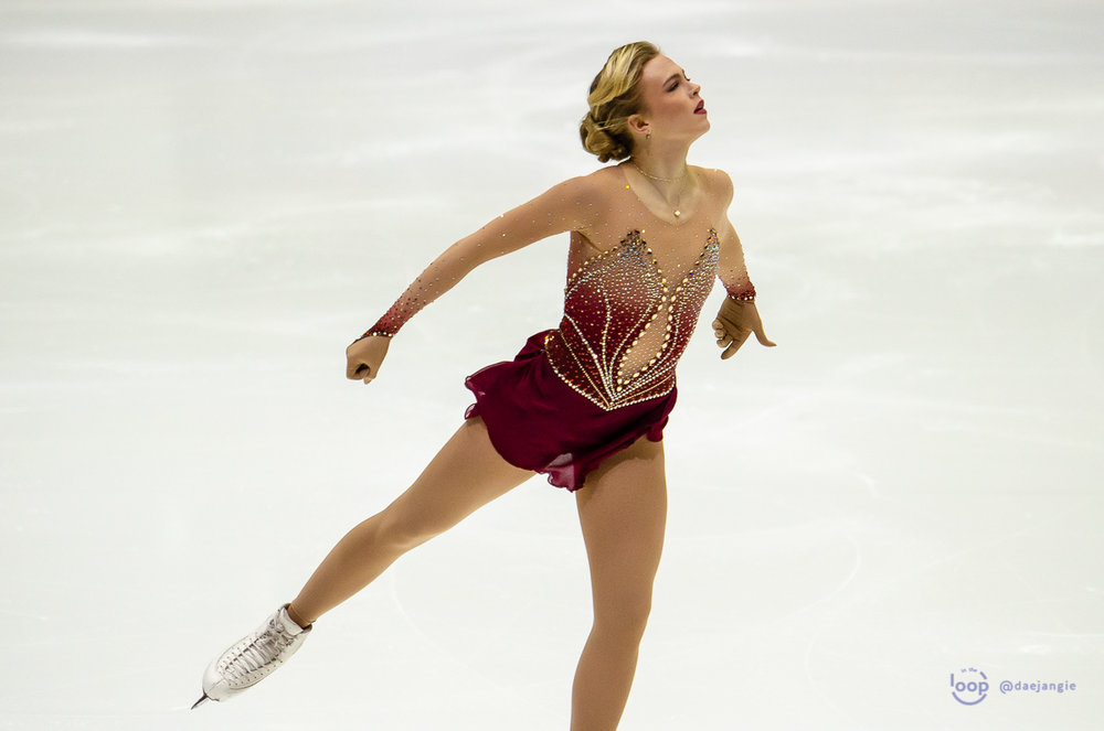 Emmi Peltonen performing her Short Program at GP Helsinki (Photo credit: Clara)