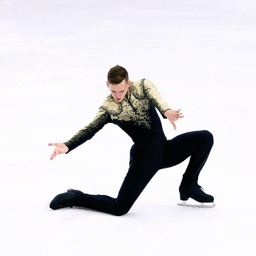 Men's champion Maxim Kovtun (RUS) performs at the CS Tallinn Trophy (Photo credit:    Maxim Kovtun   )