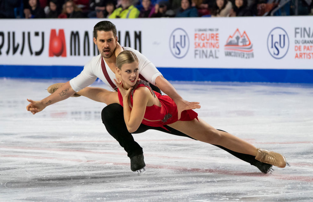 GPF Ice Dance Champions Madison Hubbell and Zachary Donohue (USA) perform their Rhythm Dance (   Photo credit: ISU   )
