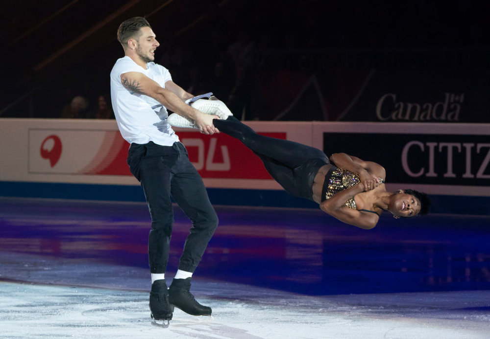 GPF Pairs Champions Vanessa James and Morgan Ciprès performing at the Gala (   Photo credit: ISU   )