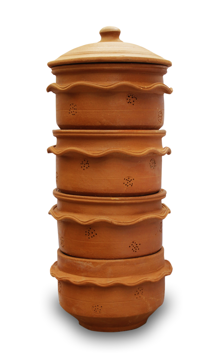 KAMBHA 4 TIER LARGE - Our classic, stackable terracotta composter is easy to use when shifting units from top to bottom. Good for a family of 4-5 and 2 & ¼ pounds of daily kitchen waste, it looks great in the yard or can be used on the patio or balcony of your townhouse or apartment. Holes in the terracotta allow fresh air to flow in and out, promoting the composting process – that means no odors or mess!