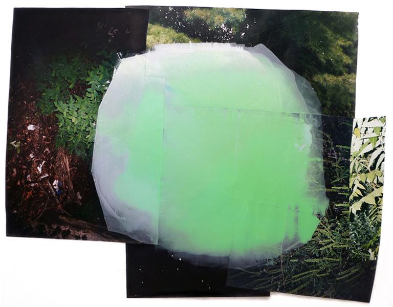 "Crush  69"" x 86""  oil on collaged c-print  2012"