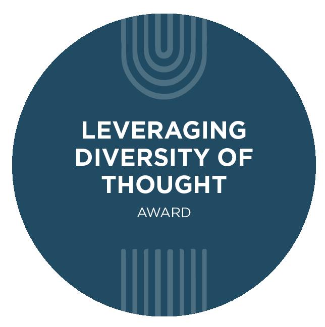 Leveraging Diversity of Thought Award Logo Mark