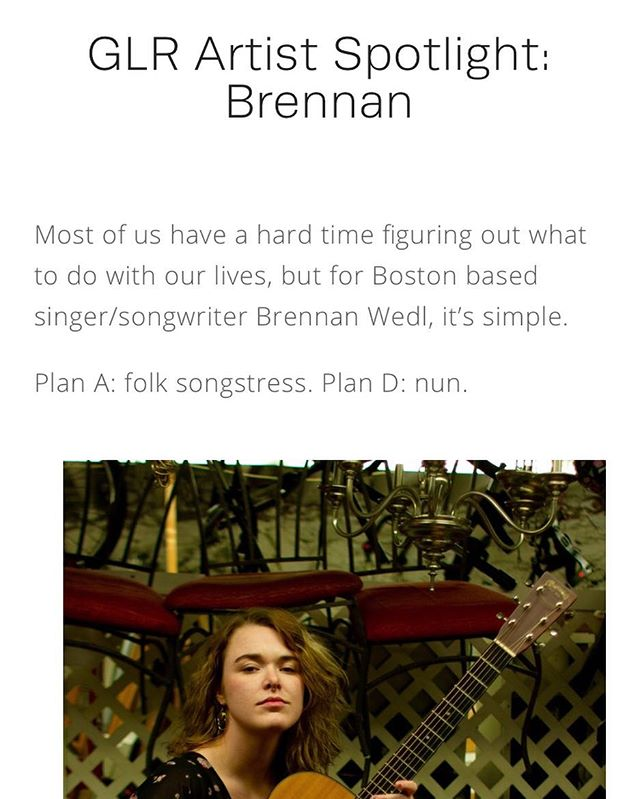 "Congratulations to @official_nun on her single release ""Shooting Blind."" Check out Green Line Record's first ever Artist Spotlight on Brennan on our website (Written by Olivia Mastrosimone). Link in Bio!"
