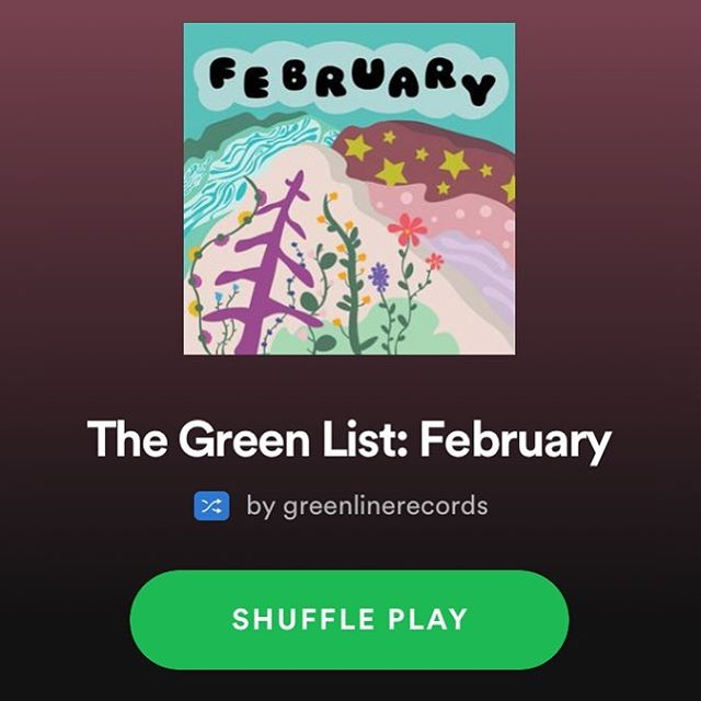 Happy Friday! February's edition of our monthly playlist The Green List (made up of your suggestions!) is out! Check it out on our Spotify and start your spring break off right!
